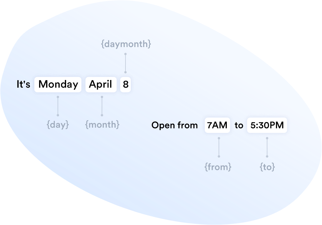 Dynamic messages in Business Hours Indicator