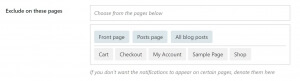 Exclude pages in WooBought