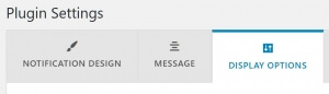 Woobought settings tabs