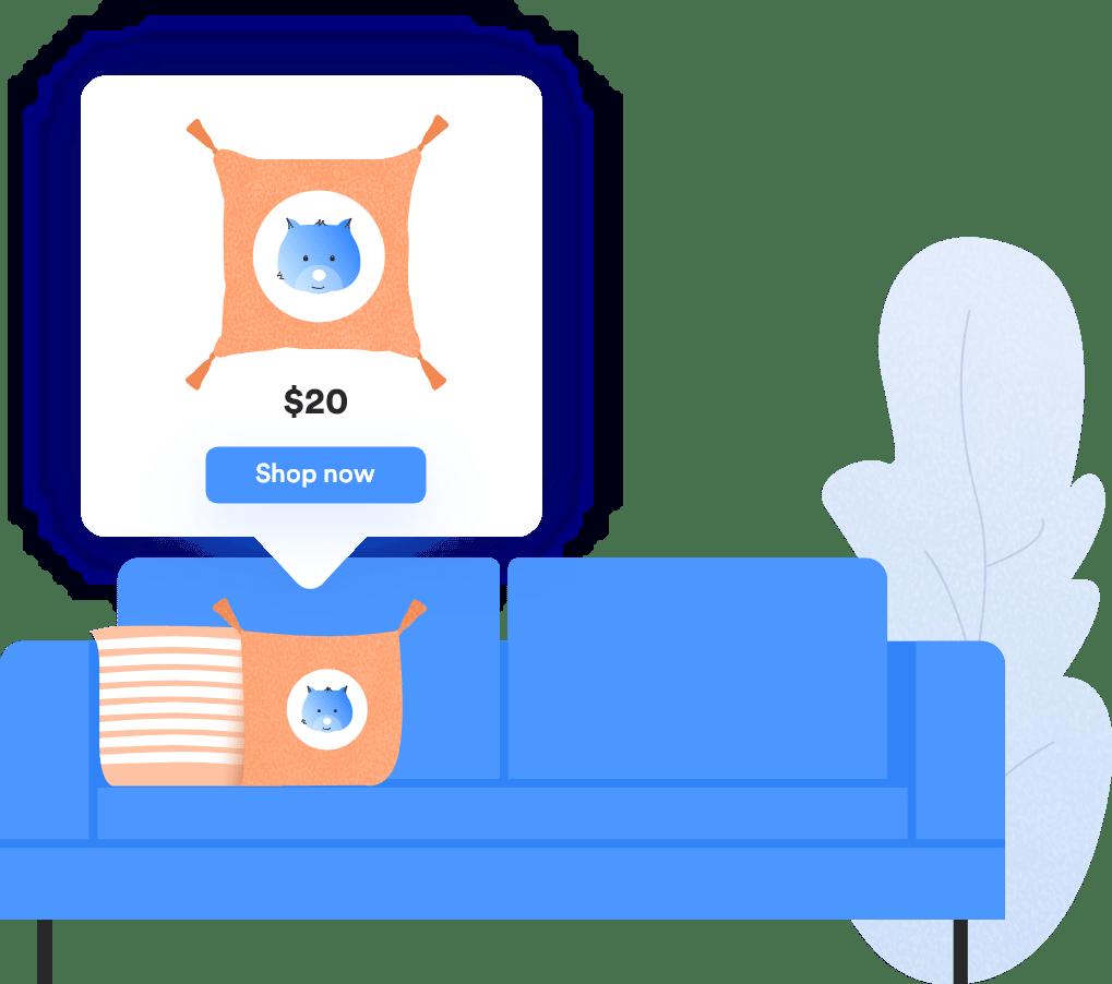 Shoppable Images illustration